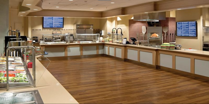 Design for corporate kitchen by Corsi Associates